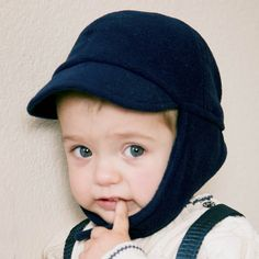 The Grey Fleece Earflap Hat protecs your little one's ears, jaw, and lower chin from the chill. Huggalugs has many baby boy bonnets for sale. Hat Patterns To Sew, Sewing Patterns Free, Vintage Baby Boys, Bonnet Hat, Thing 1, Polar Fleece, Toddler Boys, Navy, Newborn Boys