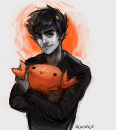 Tumblr why does Karkat's smile look so adorable