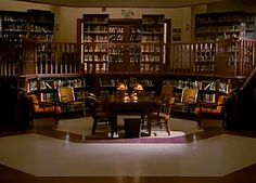 I admit it. This is my dream library to have in my home. The Sunnydale High library from Buffy the Vampire Slayer. I speak geek. I speak geek very well, now that I think about it. Don't judge. This library is amazing.