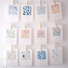 31 Cool Ideas For Calendar Design 2016 – Bashooka Watercolor Pattern Calendar 2015 by Nathalie Ouederni Calendar Layout, Diy Calendar, Calendar Design, Desk Calendars, Make Your Own Calendar, Calendrier Diy, Creative Calendar, Do It Yourself Inspiration, Watercolor Pattern