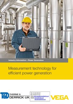 VEGA Pressure & Level Measurement - Power Generation Applications by Thorne and Derrick UK (Mechanical and Process Industry Equipment) via slideshare