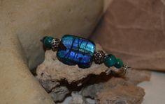 Soothing Blues Stone and Glass Bracelet by Soareyou on Etsy, $20.00