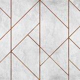 Coordonne Geometric Concrete Copper Mural