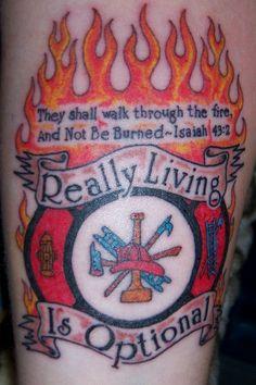 Words for Jeremy -  Firefighter Tattoo Showcase - FireLink.Monster.com