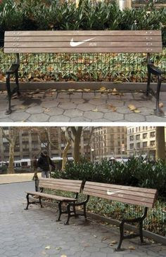 Nike bench #street #marketing    www.ad4group.com