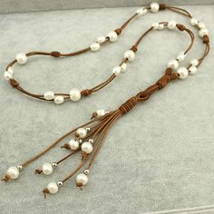 Freshwater pearl necklacepearls by WangDesignJewelry on Etsy