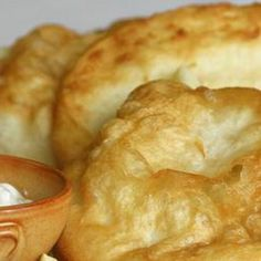 Hungarian traditional Fried Dough Lángos Langos by EmeseBoutique, Kefir Recipes, My Recipes, Cake Recipes, Cooking Recipes, Favorite Recipes, Hungarian Sausage Recipe, Hungarian Recipes, Hungarian Cuisine, Bread And Pastries