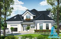 Bungalow House Plans, Craftsman House Plans, Architectural House Plans, Facade Design, Design Case, Home Fashion, Modern House Design, Sweet Home, Mansions
