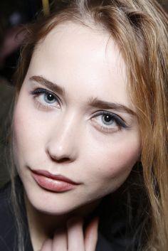 Full brow, check. Defined eye, check. Natural flushed cheek, check. Shiny lip, check. Pretty Powerful. Veronica Beard Fall '13- Bobbi Brown Cosmetics