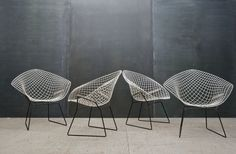Harry Bertoia Diamond Chairs