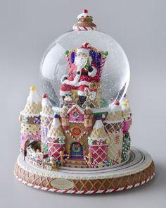 """Santa and Sweet Treats"" Snow Globe by Christopher Radko at Neiman Marcus."