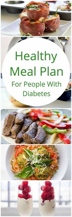Healthy meal plan for people with diabetes  | high protein | low carb | sugar free | gluten free | diabetes friendly | Paleo | via @TheFitBlog