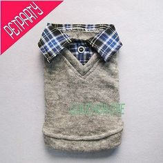 Handsome Boy Dog Pet Clothes T Shirt Collar Top Outfit Apparel Jumper XS S M L