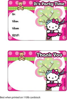 201 best hello kitty birthday printables images on pinterest hello invitation hello kitty invitations free printable ideas from family shoppingbag filmwisefo