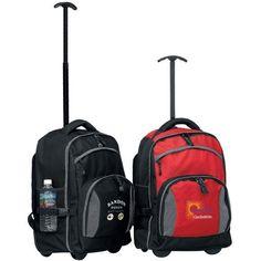 The Tundra Rolling Backpack w/ Wheels- BLACK . $32.99