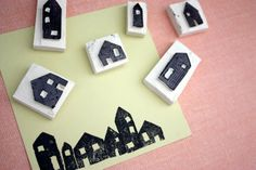 LIME RIOT: Simple House Stamp with Tutorial!