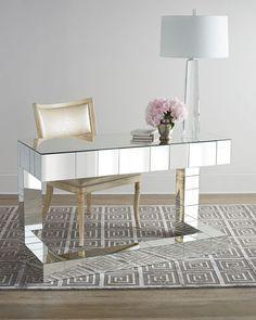 Quinlan Mirrored Writing Desk