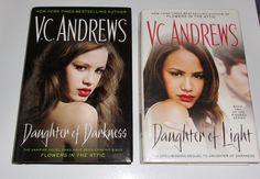 V C Andrews 2 HC Kindred Series Lot Daughter of Darkness of Light Vampires