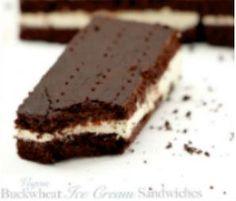 Vegan and Gluten-Free: Chocolate Buckwheat Ice Cream Sandwiches
