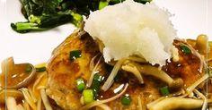 ふわっと柔らかなお豆腐ハンバーグです。和風餡でヘルシーに仕上げました。