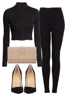 A fashion look from January 2016 featuring H&M sweaters, Topshop jeans and Christian Louboutin pumps. Browse and shop related looks. Classy Outfits, Stylish Outfits, Fall Outfits, Look Fashion, Fashion Outfits, Womens Fashion, Fashion Hacks, 80s Fashion, Petite Fashion