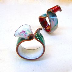 """Opal Enamel """"Saphir"""" col. Ring / Anell Escultura / Anillo de Esmalte Ópalo al Fuego Translúcido, por MNesmalts en Etsy"""