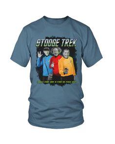 Three Stooges Star Trek, Stooge Trek 3 Stooges T-Shirt for only $19.95