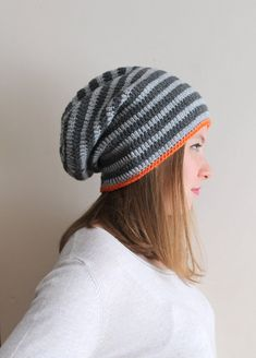 Hey, I found this really awesome Etsy listing at https://www.etsy.com/listing/108399010/striped-unisex-crochet-hat-gray-hat