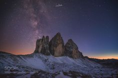 Twilight and Stars by micheliluca Night Photography, Landscape Photography, Travel Photography, Luca, Cool Landscapes, Photos Of The Week, Milky Way, Night Skies, Nature Photos