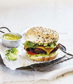 Vegetarian cheeseburger