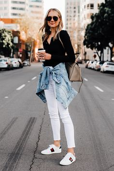 7198e6f88bb Ways to Effortlessly Rock a Denim Jacket The denim jacket is ESSENTIAL to  our wardrobes as they carry through all seasons. They are the perfect piece  to add ...