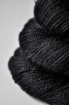 Black hole - Baby Alpaca / Silk Lace Yarn | Dye For Wool