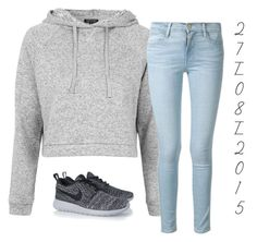 """""""2 7 / 0 8 / 2 0 1 5"""" by apcquintela ❤ liked on Polyvore featuring moda, Topshop, Frame Denim e NIKE"""