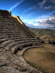 "Amphitheatre in Segesta, Sicily, italy  build it in the mountains of NC ""they will come."""
