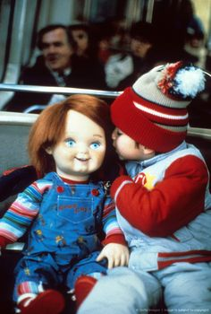 Chucky and Andy from Child's Play