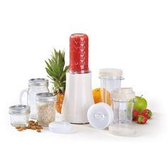 Tribest Single-Serving Mason Jar Personal Blender, Front-Center View of Entire Blender Package Blender Mixer, Mini Blender, Kitchenaid, Smoothie Mixer, Tapas, Granita, Pots, Sorbets, Yummy Smoothies