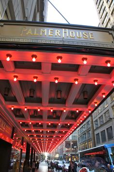 Palmer House Chicago! Always loved our little family getaways here when I was a kid. We lived in Chicago but it was so much fun to be right downtown! :)