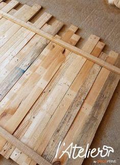 Rustic Headboard Diy, Reclaimed Wood Headboard, Upcycled Furniture, Diy Furniture, Diy Bedroom Decor For Teens, Palette Table, Crate Decor, Wooden Art, Cabana