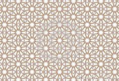 as if a simple geometric flower mosaic repeat long look