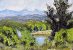 Willow Lake Plein Air Color Sketch #Impressionism