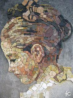 Pebble Mosaic, Mosaic Glass, Mosaic Tiles, Stained Glass, Mosaic Portrait, Yarn Painting, Mosaic Artwork, Mosaic Madness, Female Art