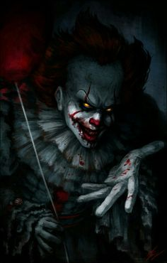 One of my favorite fan art pics of Pennywise. Horror Movie Characters, Horror Movies, Fictional Characters, Art It, Scary Wallpaper, Horror Photos, It The Clown Movie, Es Der Clown, Horror Artwork
