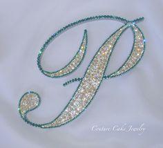 Bling-O-RAMA!  Stunning Crystal Cake Topper! #swarovski #couturecakejewelry #weddingcaketopper