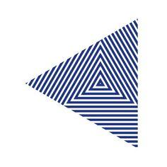 #276 Zebra triangle – Geometry Daily Art Print