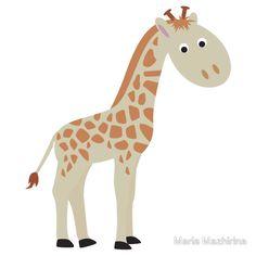 Watercolor baby giraffe