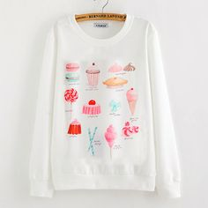 "Ice Cream Sweatshirt - click the link for more cute looks and use this coupon code ""Douniaabnaamar"" to get all 10% off,Sponsor Review and Affiliate Program open there!"