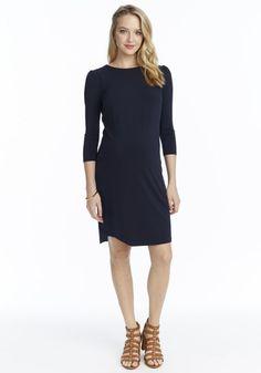 Rosie Pope Britt Dress    Shop it: http://rosiepope.com/shop/maternity/britt-dress-navy.html?___SID=U #maternity