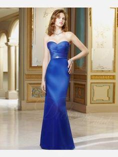 Pleated Sheath Sweetheart Floor-length Satin Bridesmaid Dress #Bridesmaid #Dress $93.05