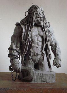 Barbarian sculpt