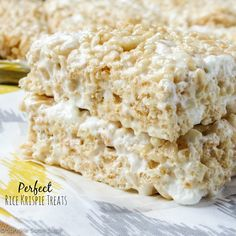 Perfect Rice Krispie Treats. The only recipe you'll ever need for soft, chewy and delicious rice krispie treats every single time! (Good)
